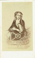 Photo cdv : E.Desmaisons ; Delphine de Girardin d'après gravure  , vers 1865