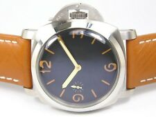 PARNIS 47MM HANDWIND 1950 ORANGE SANDWICH SUPER LUMINOUS STERILE DIAL DOME GLASS