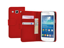 WALLET ROSSO Pelle Custodia Cover per Samsung Galaxy Core Plus SM-G350 / G3502