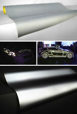"Vvivid silver / white reflective vinyl film 12"" x 48"" inches self adhesive decal"