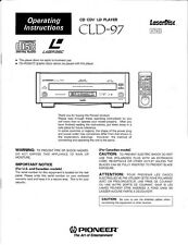 Pioneer CLD-97 CD Player Owners Manual