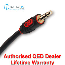 QED Profile J2J 3.5mm Mini Jack to 3.5mm Jack Aux Cable Audio Lead 2m - QE2733
