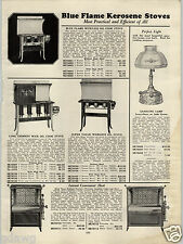 1931 PAPER AD Blue Flame Kerosene Stove Gas Lamp  Hoosier Style Kitchen Cabinets