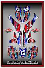 Honda TRX 450R TRX450 ATV SEMI CUSTOM GRAPHICS KIT DOTTED BLACKED
