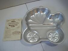 WILTON Baby Buggy Cake Pan Carriage Shower Stroller Party 2005 Aluminum