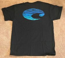 NEW Costa Swells Short Sleeve T-Shirt Large Black SWELL02BL