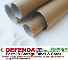 "10 x 41"" x 4"" SUPER STRONG 3mm WALL WIDE DIAMETER Postal Tubes Postage Posters"