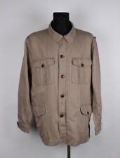 Aigle Men Linen Cotton Jacket Size 2XL, Genuine