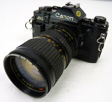 Vintage Canon A-1 35mm Film Camera w/Macro Lens 28-80mm 1:3.5-4.5 AS-IS Untested