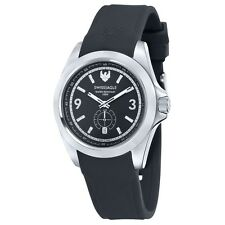 NEW RRP £310 Swiss Eagle SE-9064-01 Mens Dufaux Black Silicone Strap Watch