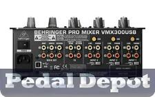 Behringer VMX300USB Pro 3-Channel Dj Mixer w/USB/Audio Interface - Brand New!