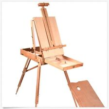 French Easel Wooden Sketch Box Portable Folding Durable Artist Painter Tripod ++