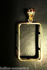 BEZEL & BALE NEW FOR 10 GRAM PAMP SUISSE FORTUNA BARS  14 KT. SOLID GOLD  LQQK
