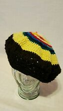 Vintage Hand Knit Cold Weather Winter Snow Hat - one size - multi-color