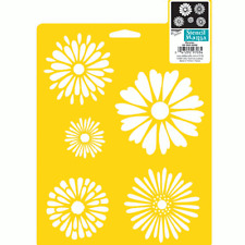 DAISY STENCIL DAISIES FLOWER FLOWERS STENCILS PATTERN TEMPLATE CRAFT DELTA NEW