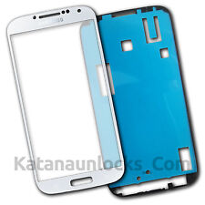ORIGINAL Cristal de pantalla Samsung Galaxy S4 i9500 i9505 Blanco - Front Glass