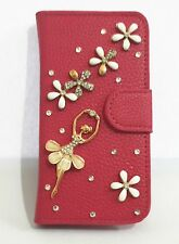Bling Diamond Crystal Ballet Wallet Pouch Leather Case Cover For Samsung Phones