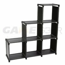 3 Tier Storage Cube Closet Organizer Shelf 6 Cube Cabinet Bookcase Storage Black