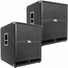 "Pair of SEISMIC AUDIO 18"" PA POWERED SUBWOOFER Active Speakers 500 Watts Ea"