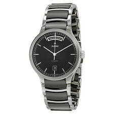 Rado Centrix Black Dial Stainless Steel Black Ceramic Mens Watch R30156152
