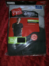 HANES 4 TAGLESS T SHIRTS GREY AND BLUE