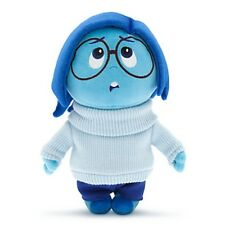 "DISNEY STORE INSIDE OUT SADNESS PLUSH DOLL 11"" VELVET HAIR KNITTED SWEATER"