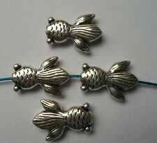 10pcs Tibetan silver  fish Charm Spacer beads  23x16x5 mm