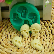 Cute Skull Head Silicone Fondant Cake Mould Chocolate Mold Halloween Party Decor