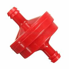 1x 1/4'' Lawn Mower Plastic Red Inline Fuel Filter For Briggs & Stratton 298090