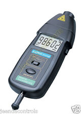 DT2236B 2in1 Digital Laser Photo Contact Tachometer RPM FEDEX freeshipping