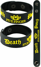 FIVE FINGER DEATH PUNCH  NEW! Bracelet Wristband aa124 Black/American Capitalist