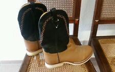 ■ WWW Western Boots, Herrenstiefel, Reitstiefel, schwarz/beige, Gr. 45 110 EE■