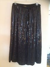 Black Sequin Skirt 2X/3X