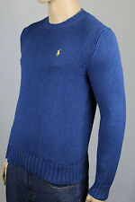 Polo Ralph Lauren Small S Blue Crewneck Sweater Yellow Pony NWT