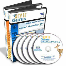 New Adobe PHOTOSHOP CS4 and ILLUSTRATOR CS4 Tutorial Training 39 hrs on 5 DVDs