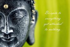 INSPIRATIONAL BUDDHA QUOTE ART IMAGE  A4 Poster Gloss Print Laminated