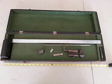 Vintage Precision Machinist Metron Surface Height Gage Gauge And Case SWEDEN