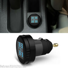 TPMS Car Tire Pressure LCD Display Monitoring System Wireless 4 External Sensors