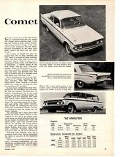 1962 MERCURY COMET ~ ORIGINAL NEW CAR PREVIEW ARTICLE / AD