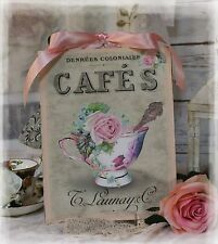 """New! """"TEA CUP""""~Shabby Chic~Country Cottage style~Wall Decor Sign"""