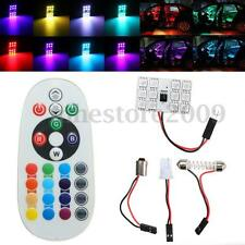 T10 Festoon BA9S RGB 12 LED SMD Car Dome Reading Light Lamp Bulb Remote Control