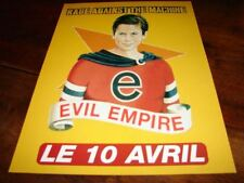 RAGE AGAINST THE MACHINE EVIL!!!!!RARE FRENCH PRESS/KIT