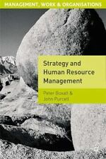 Management, Work and Organisations: Strategy and Human Resource Management :