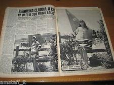 RIVISTA OGGI 1966/38=CLAUDIA CARDINALE=RAQUEL WELCH=ARTICOLO FOTO=CLIPPING=