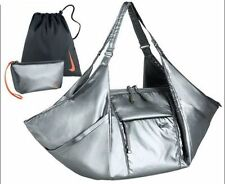 Nike Women's Victory Silver Metallic Water Resist Gym Tote Bag - BA5009 - 010