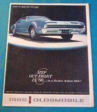 Vtg 1966 Oldsmobile Advertising Brochure Toronado Delta 88 Cutlass Jetstar F-85