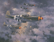 P-51B Mustang Bud Anderson Aviation Plane Painting Art Print Michael Turner