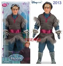 """Disney Store Classic Collection Kristoff Deluxe Doll w/ Hat 12"""" Frozen NEW 2013"""