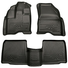 2011-2014 Ford Explorer Black Husky Liner WeatherBeater 1st & 2nd Row Floor Mats