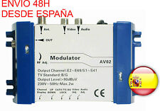 Modulador Video Audio Modulator  TV TDT SAT PC CCTV CAMARAS por Toda la Casa